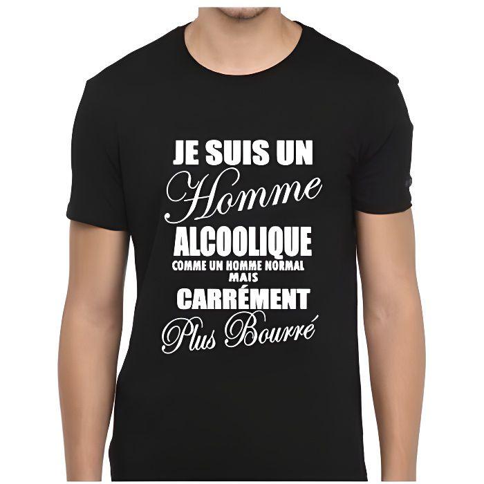 Tee-shirt humour je suis un homme alcoolique