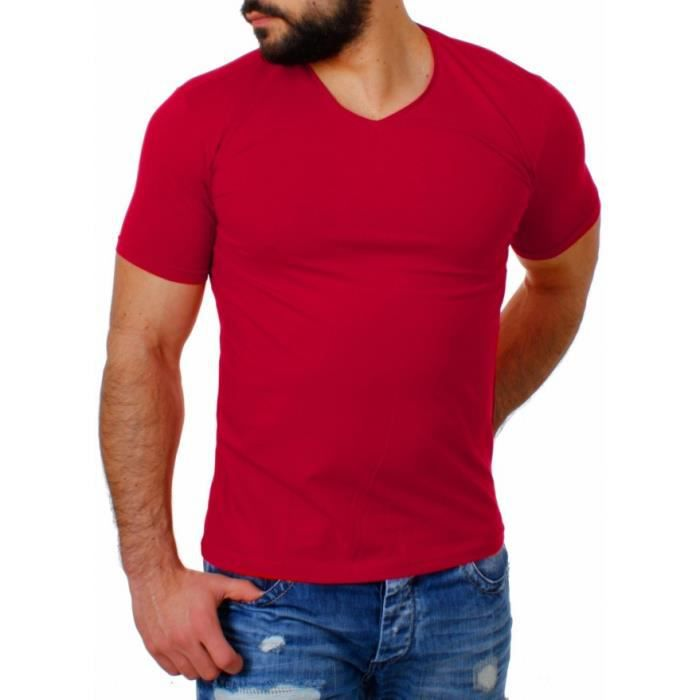tee shirt rouge homme pas cher