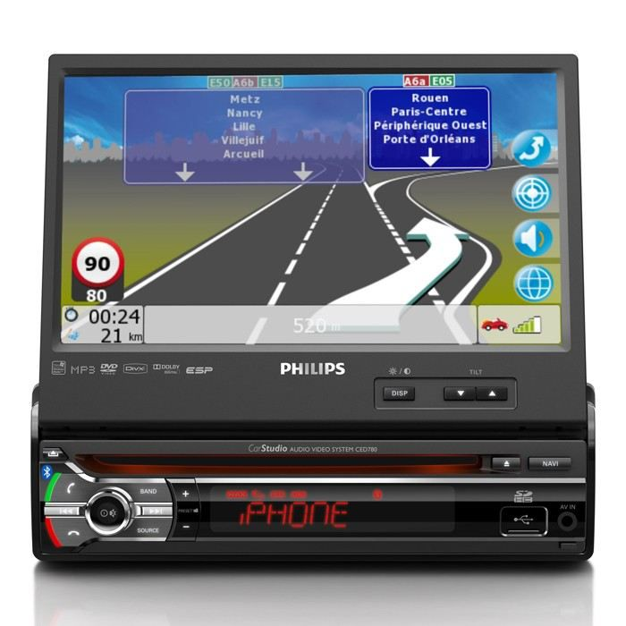 philips ced781 autoradio dvd gps bluetooth aur achat vente autoradio philips ced781. Black Bedroom Furniture Sets. Home Design Ideas