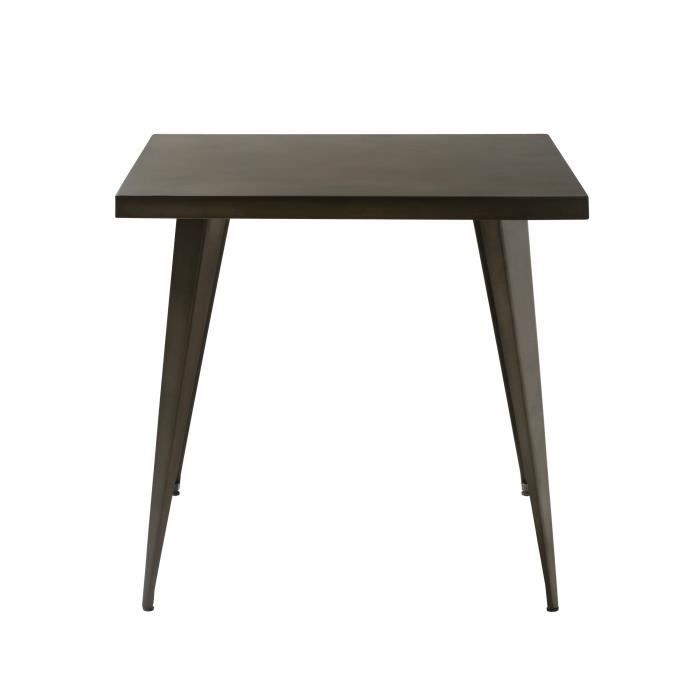 Table de repas indus carr e 80 cm achat vente table a for Table de sejour carree