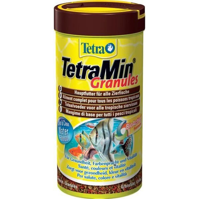 Tetra tetramin granules 250 ml achat vente extrud for Distribution nourriture poisson
