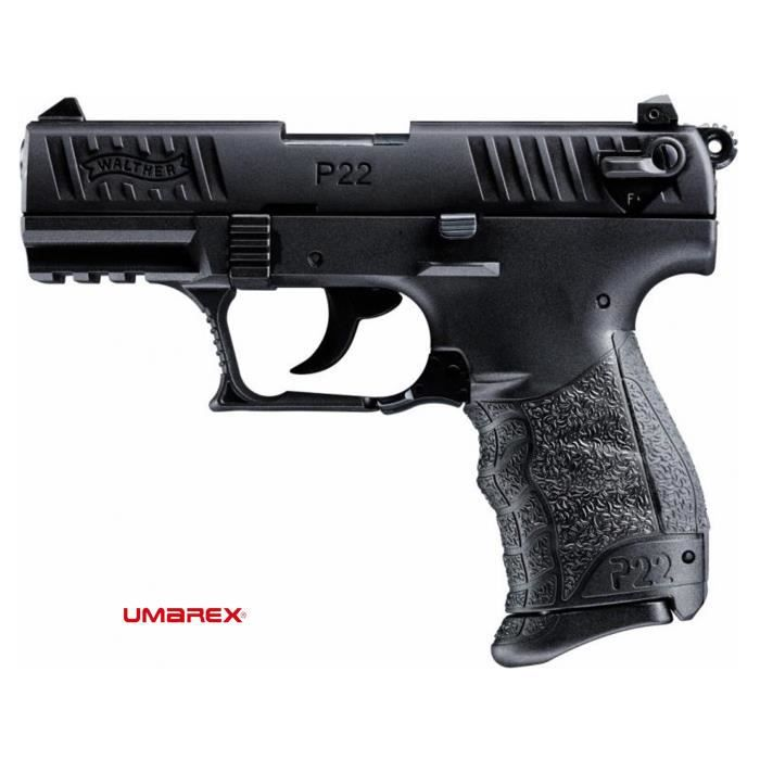 Walther p22q black arme de d fense cal 9mm p a k achat for Arme defense maison