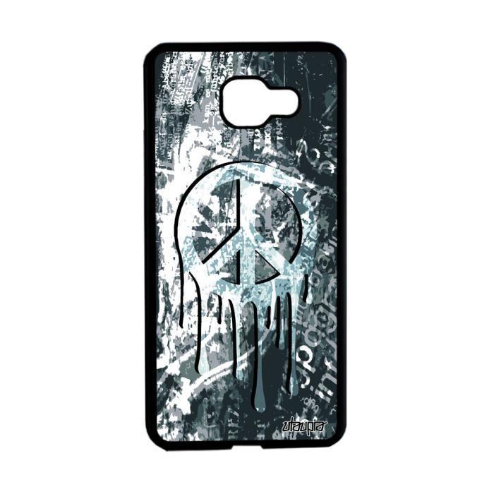 Coque Samsung A5 2016 silicone peace and love graffiti mobile ragga yoga Samsung Galaxy A5 2016