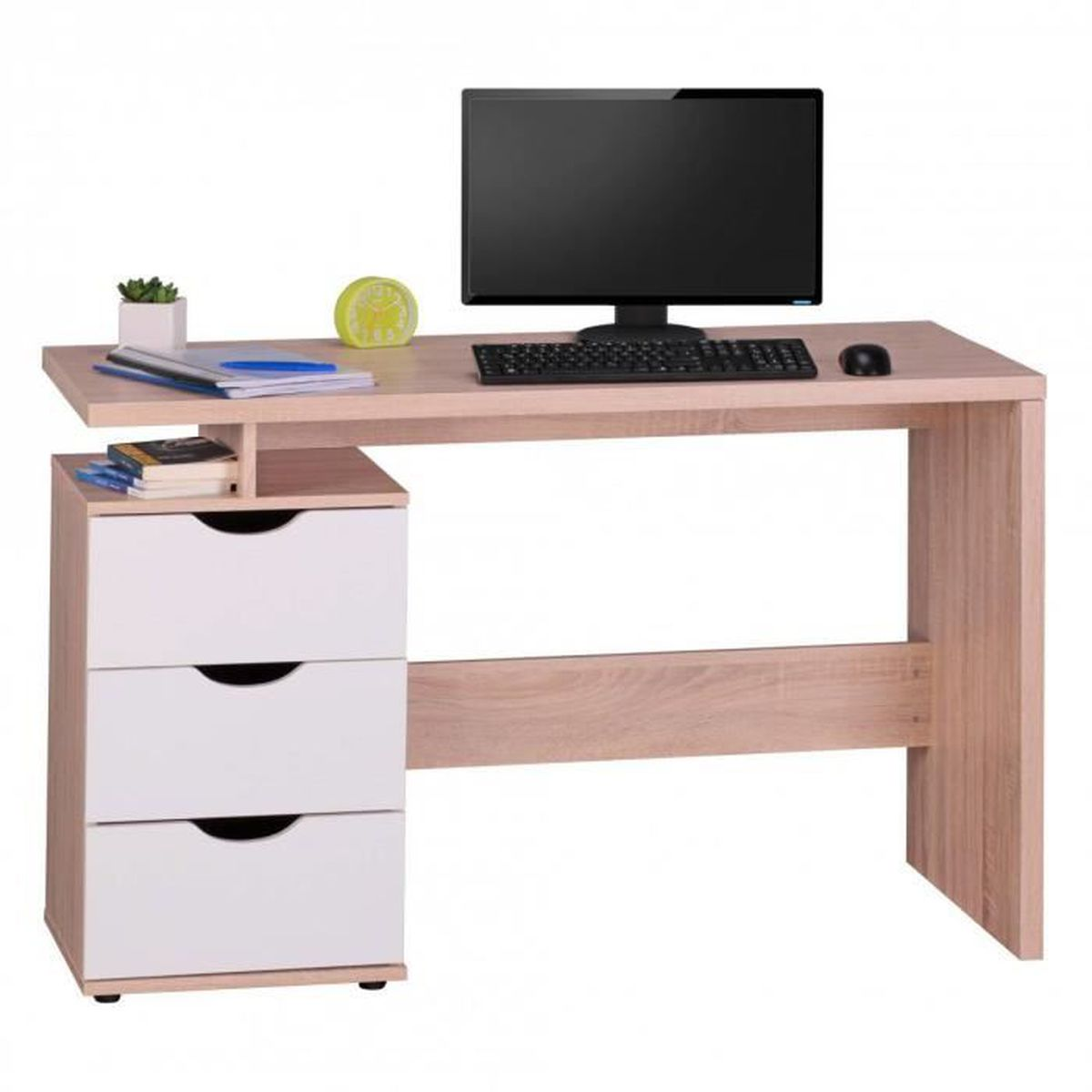 table de bureau bureau design avec tiroirs moderne. Black Bedroom Furniture Sets. Home Design Ideas