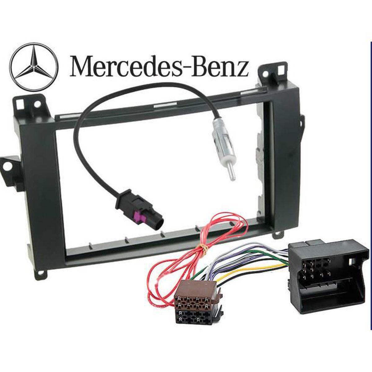 Kit Montage Adaptateur Cadre de Radio fa/çade autoradio 1 DIN Smart Car ForTwo Gris