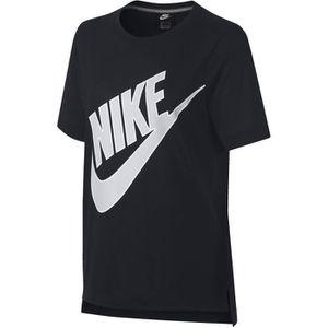 uk cheap sale best quality united kingdom NIKE T-shirt Prep Futura - Femme - Noir - Achat / Vente t ...
