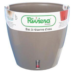 JARDINIÈRE - BAC A FLEUR RIVIERA Pot rond Eva New en plastique - Ø 46 cm -