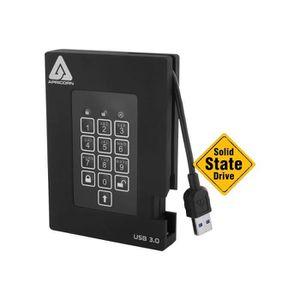 DISQUE DUR EXTERNE Apricorn Aegis Padlock A25-3PL256-S512F Disque SSD
