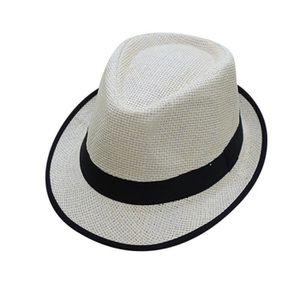 4 Tailles Hommes Femmes Fedora Chapeau Trilby Jazz Cap Summer Sunhat Plage Mariage Fête
