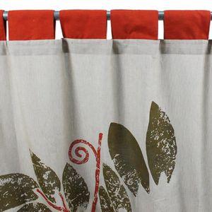 RIDEAU SIENNA rideau coton (140x260cm) orange - MonBea...
