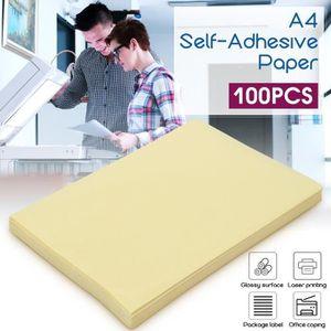PAPIER IMPRIMANTE QN Set 100pcs A4 Papier Imprimante Autocollant Sti