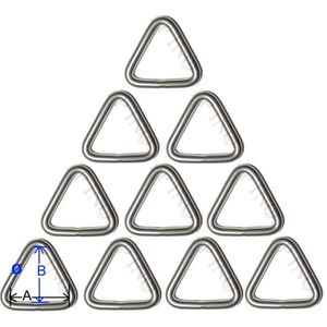 Anneau Triangulaire inox 6mm x 50mm Lot de 10 inox Triangle