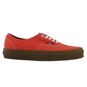 BASKET VANS AUTHENTIC WASHED CANVAS CHERRY TOMATO