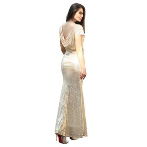 ROBE WoWa® Femme Robe de Soirée Mariage Robe à Paillett