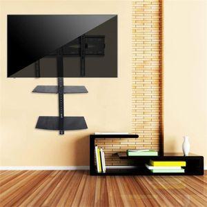 FIXATION - SUPPORT TV Support mural de TV avec rack de rangement Support