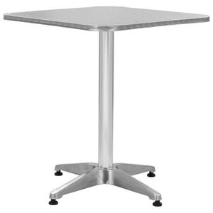 SALON DE JARDIN  Table de jardin carrée Aluminium 60 x 60 x 70 cm