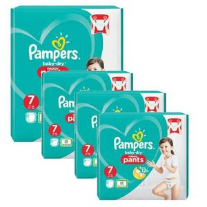 COUCHE 58 Couches Pampers Baby Dry Pants taille 7