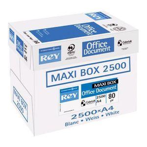 PAPIER IMPRIMANTE Papier Rey A4 80 g/m² Blanc Office Document - Maxi