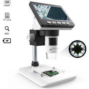 1-1000x Vid/éo pour QC//Industriel//Collection DInspection KKmoon KKmoon Microscope Num/érique Grand /écran 4.3 LCD /écran 8 LED R/églable 110-240V HD 2.0MP CCD Avec 1080P//720P//VGA