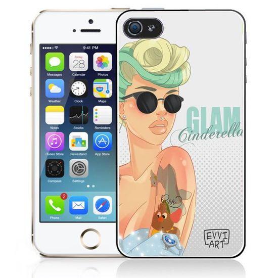 coque iphone 5c princesse disney cendrillon glam
