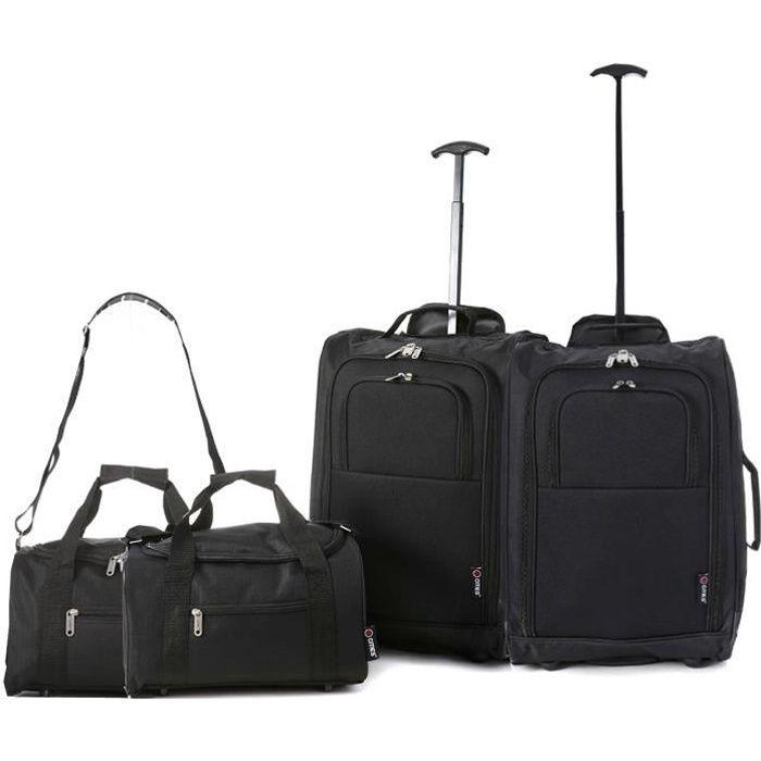 SET DE SACS DE VOYAGE Ryanair Cabine 55x40x20 cm & deuxième sac de trans
