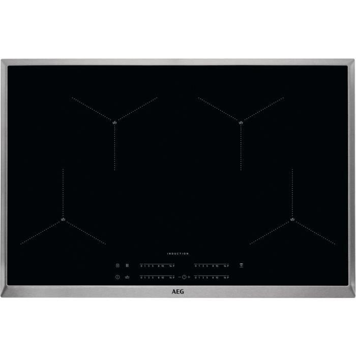 AEG IAE84411XB, Intégré, Plaque avec zone à induction, Céramique, Noir, 2300 W, 21 cm