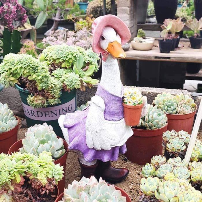 Jardin de sculpture de canard canard canard modèle animal extérieur jardin de paysage