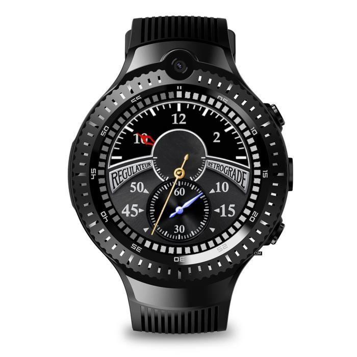 Montre GPS intelligente 1 + 16G Dual 5MP Caméra 4G Sport Bracelet Moniteur de fréquence cardiaque Cadran