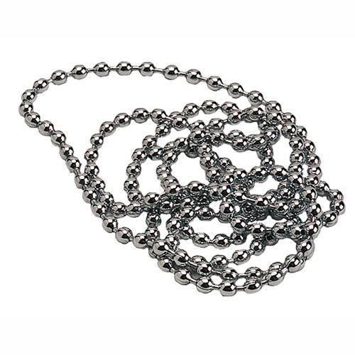 Chainette perlee laiton chrome