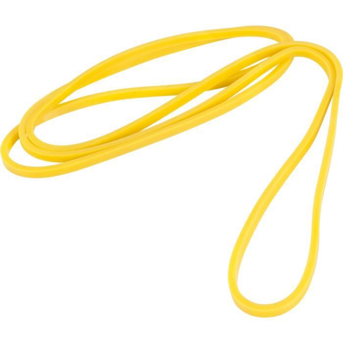 Bande de résistance élastique pour renforcer vos muscles - 2080 x 4,5 x 6,4mm - jaune 2,5-25LBS