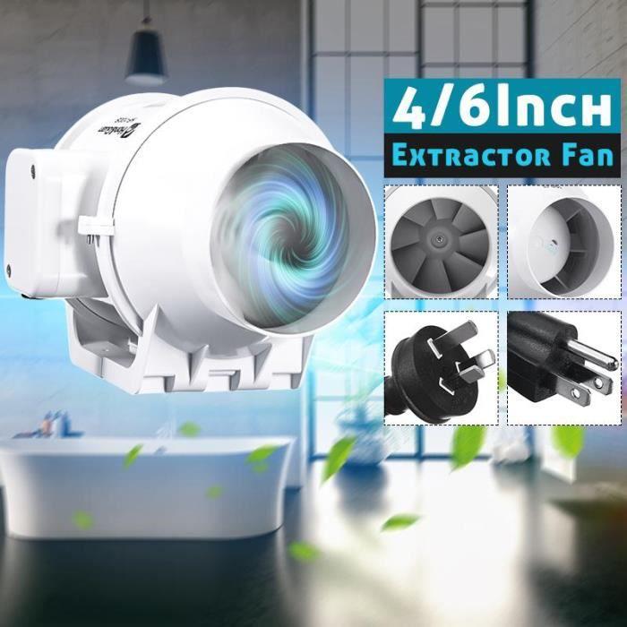 Ventilateur en ligne de Ventilation, Tube de Ventilation en ligne pour ventilateur souffleur d' - Modèle: 4 inch L'UA - HJXFSA02603