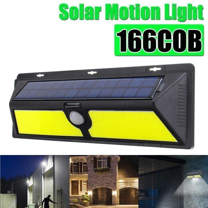 166COB Applique Murale Capteur Solaire Etanche Lampe Exterieur 600LM Top28682