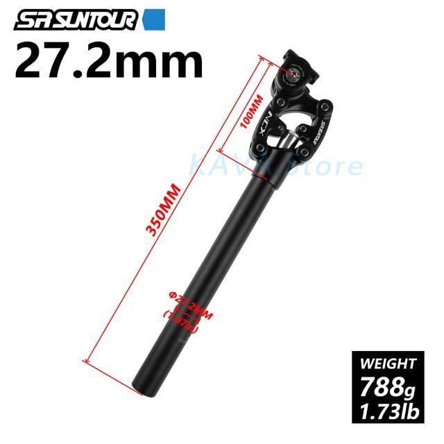 Pièce Détachée,SR Suntour NCX suspension d'amortissement de vélo tige de selle VTT 50mm voyage - Type NCX 27.2MM