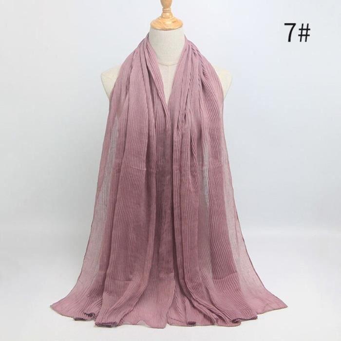 Foulard hijab en coton froissé, écharpe douce, écharpe chaude, écharpe chaude, châle, 25 couleurs, Design hiver, tendanc DY5181