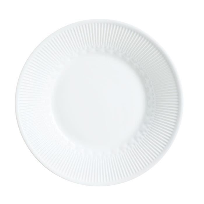 Assiette creuse 23 cm - Alizée Perle - Luminarc Blanc