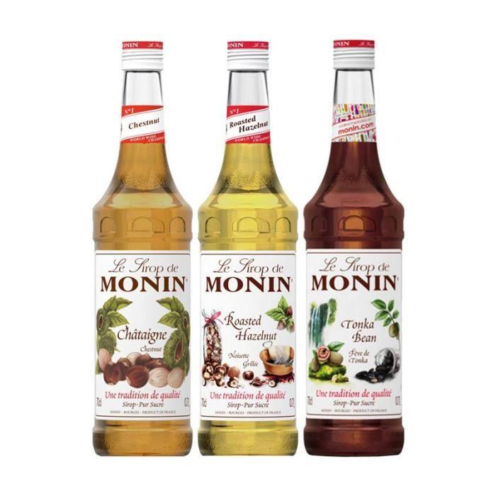 Assortiment Monin Fruits Secs (pack 3x70cl)