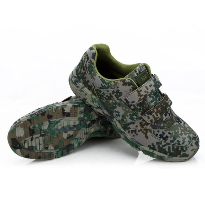 Chaussure de sport homme basket course running sneakers respirant Mess imperméable antidérapant velcro haute qualité MD-Camouflage