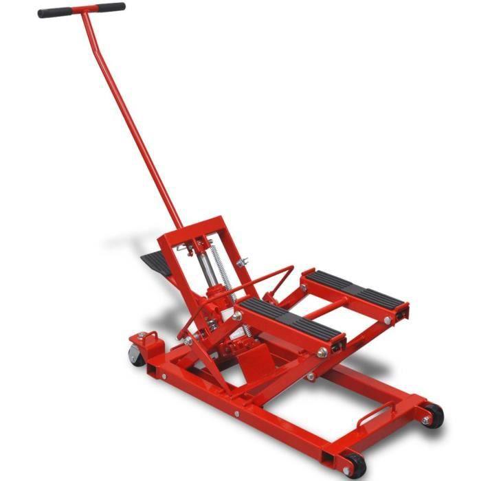 Haute qualité Magnifique Economique Cric hydraulique pour Moto-VTT 680kg Rouge