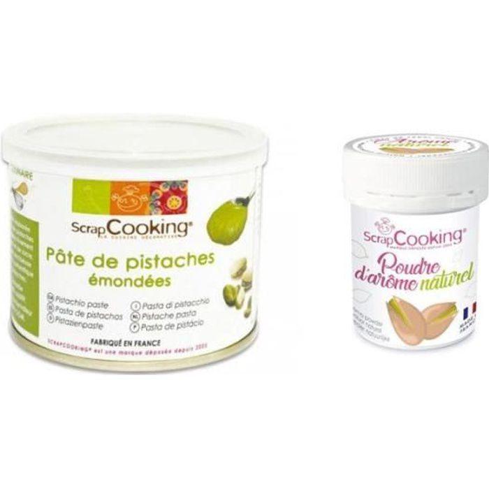 Pâte de pistache 200 g + arôme naturel de pistache en poudre