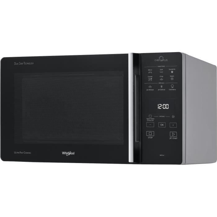 WHIRLPOOL MCP-349SL-Micro ondes combiné silver-25 L-800 W-Grill 900 W-Pose libre