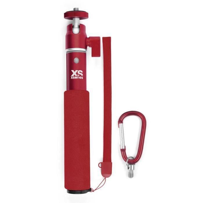 XSORIES Perche Télescopique pour Caméra U-Shot - 49 cm - Rouge profond