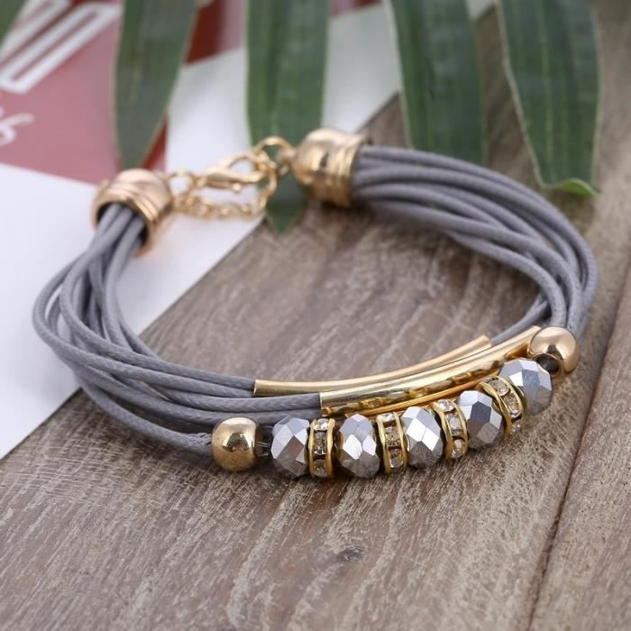 bracelet femme multi rangs