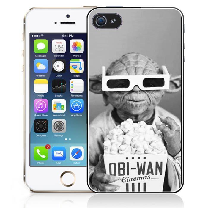 Coque iPhone 5 - 5S - SE Star Wars Yoda Cinema 3D