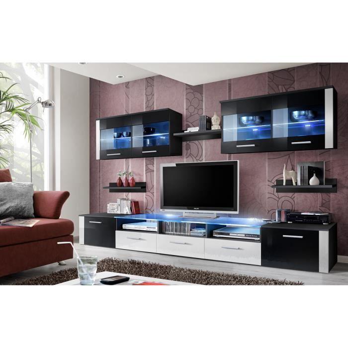 MEUBLE TV MURAL Meuble de salon, meuble TV design complet FOCUS bl