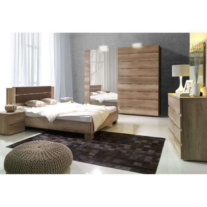 price factory chambre coucher compl te miro adulte. Black Bedroom Furniture Sets. Home Design Ideas