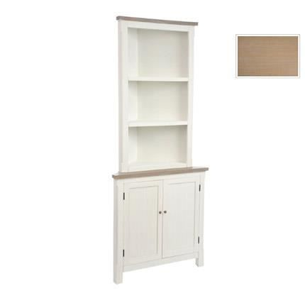 etag re d 39 angle 2 portes 2 tablettes blanc achat. Black Bedroom Furniture Sets. Home Design Ideas