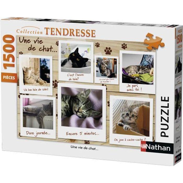 PUZZLE Nathan - 87778 - Puzzle 1500 pcs chatons, Une Vie