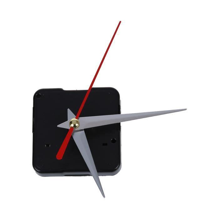 Neuf Noir Horloge Mouvement Mécanisme Réparation Diy Kit Outil Rouge Main