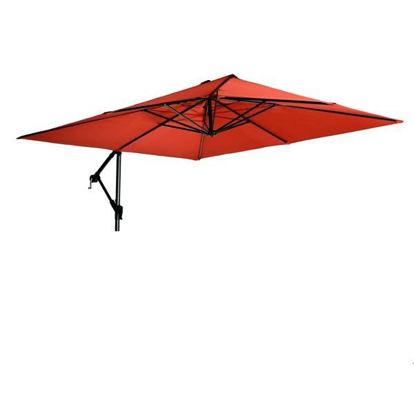 parasol carr 2 5 x 2 5m excentr gris achat vente parasol ombrage parasol carr excentr. Black Bedroom Furniture Sets. Home Design Ideas