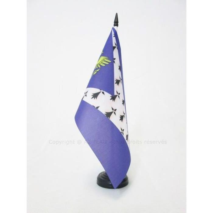 AZ FLAG Drapeau de Table Pays rennais 21x14cm Petit Drapeaux DE Bureau Bro Roazhon Rennes en Bretagne 14 x 21 cm